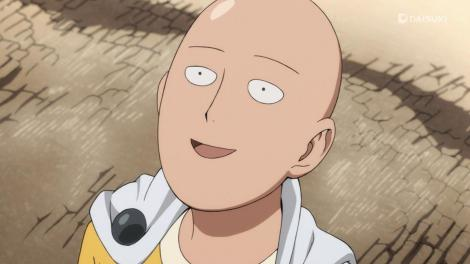One-Punch Man in his natural form.