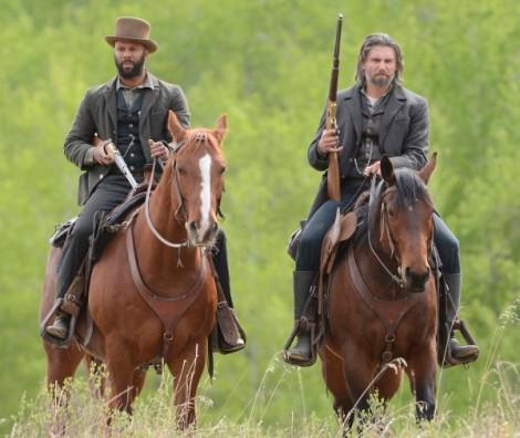 Elam Ferguson (Common) and Cullen Bohannon (Anson Mount) - Hell on Wheels _ Season 3, Episode 3 - Photo Credit: Chris Large/AMC