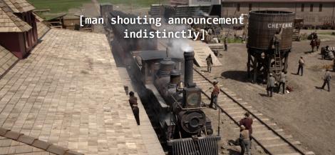indistinct announcement