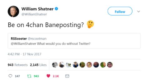 william-shatner-williamshatner-follow-be-on-4chan-baneposting-rsscooter-rscootman-29082392.png